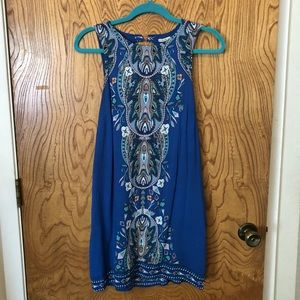 Urban Outfitters Blue Printed Mini Dress